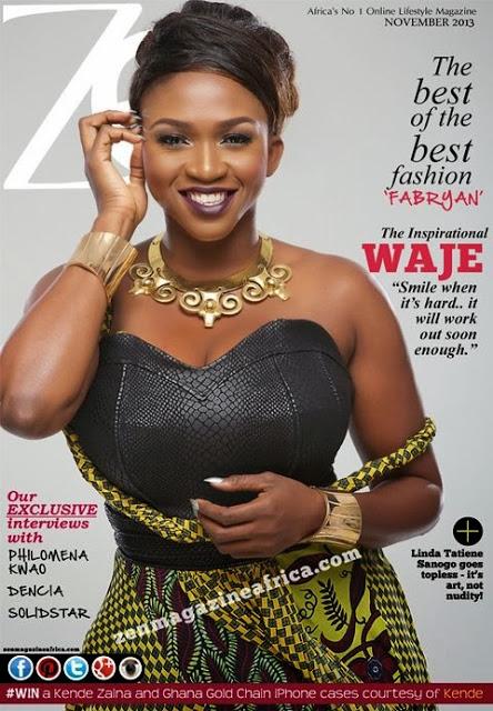 PHOTO: Waje Looks Amazingly Beautiful On The Cover Of Zen Magazine