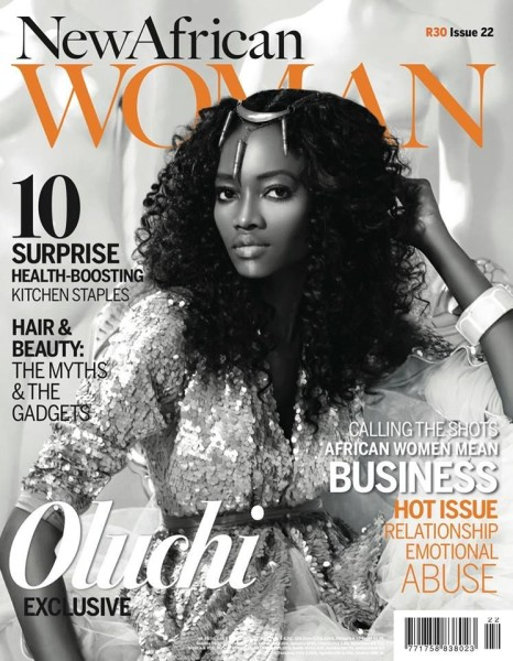 Supermodel Oluchi Onweagba Orlandi Covers The October/November 2013 Edition Of New African Woman Magazine