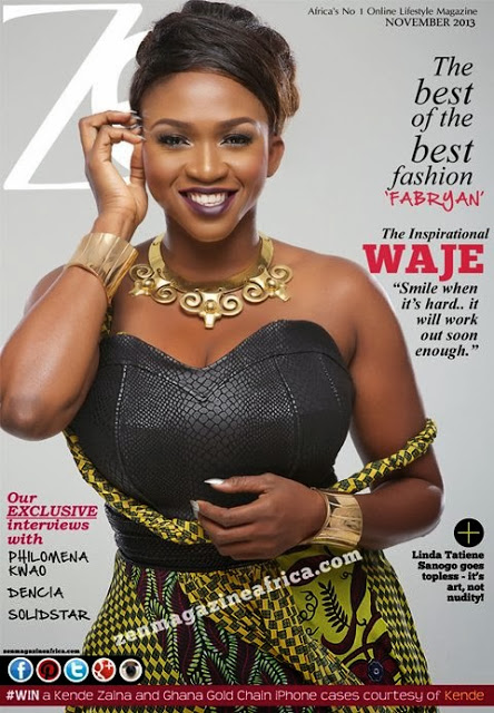 PHOTO: Waje Looks Amazingly Beautiful On The Cover Of Zen Magazine